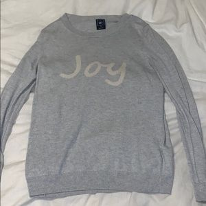 "Gap ""joy"" sweater"